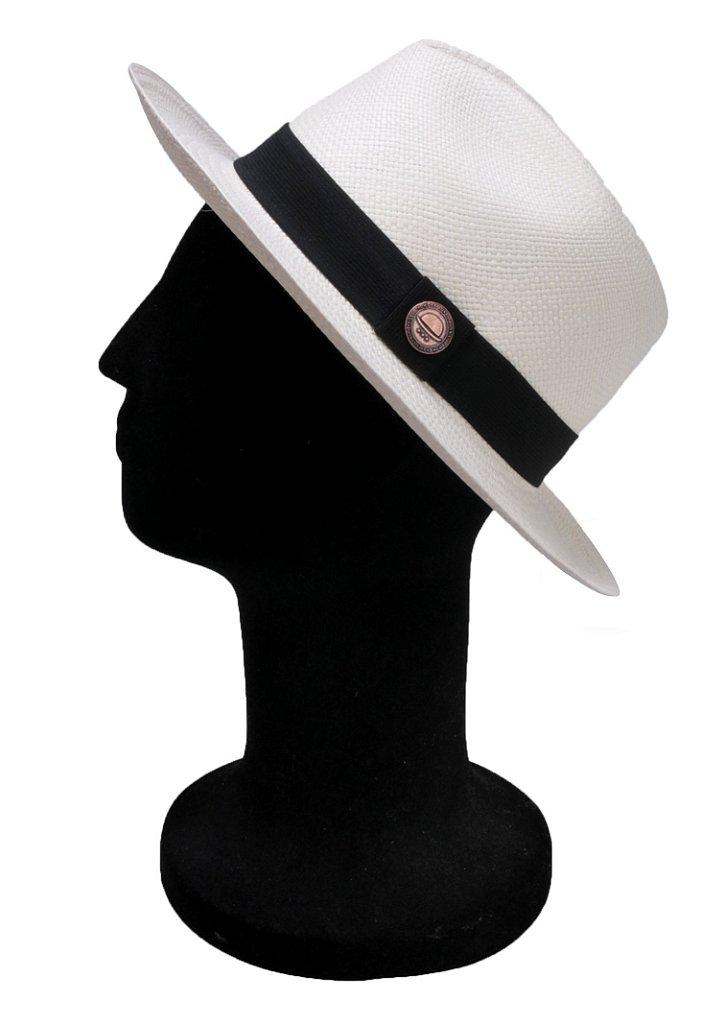 ... Chapéu Panamá Branco Faixa Preta Tradicional Montecristi - Imagem 2 ... 4cb1c4f1da6