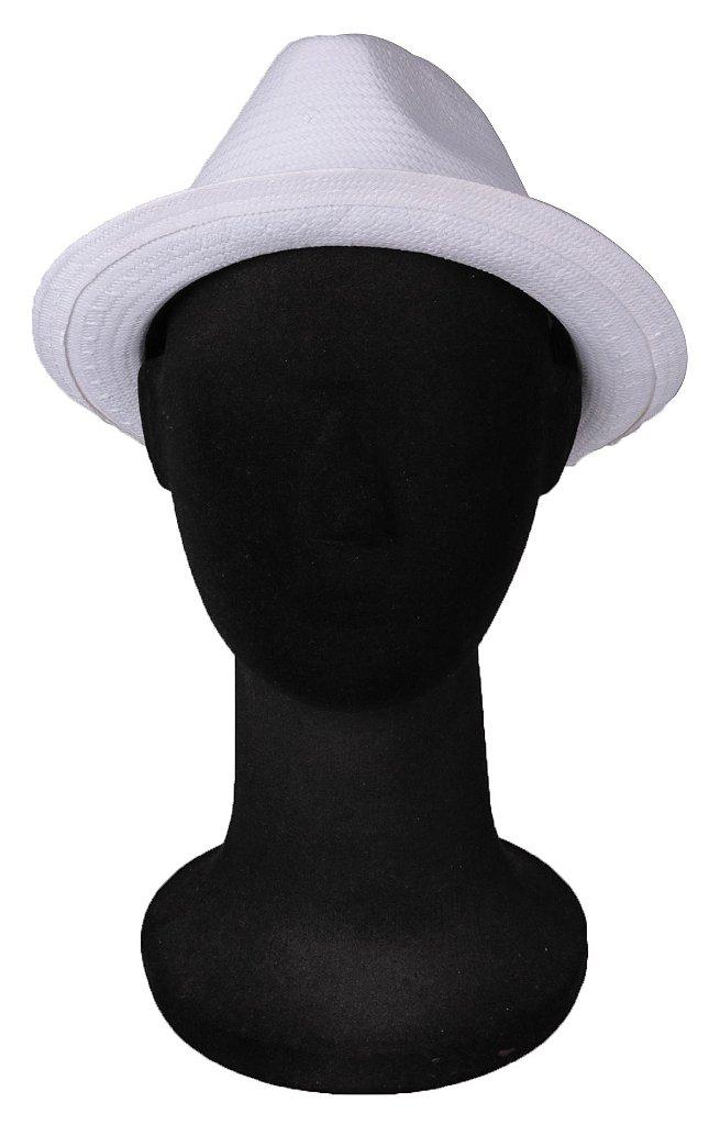 702feb9b1d754 ... Chapéu Estilo Panamá Shantung Palha Branco Aba media 5 cm - Imagem 3 ...