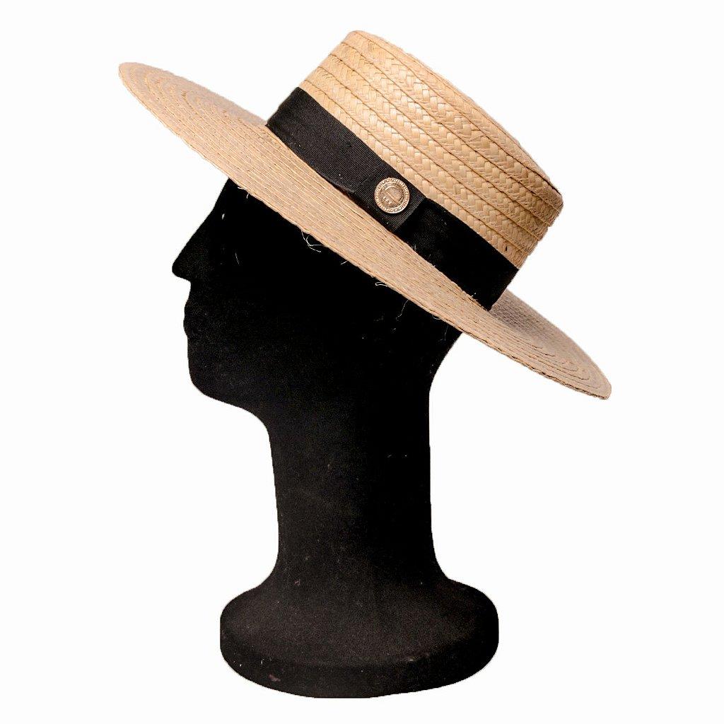 Chapéu de Palha Grande Boater Palheta Aba 10 cm - Compre com quem é ... 2a4c37581b0