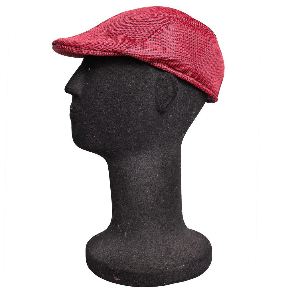 Boina Italiana Masculina Xadrez Vermelho e Preto - Compre com quem é ... 21a1348e471