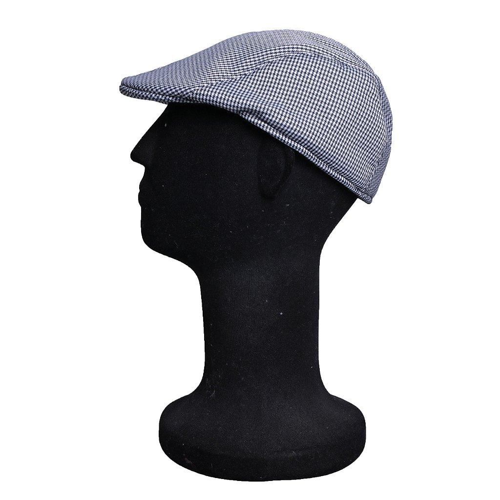 Boina Italiana Masculina Xadrez Azul e Branco - Compre com quem é ... 987ebf87a79