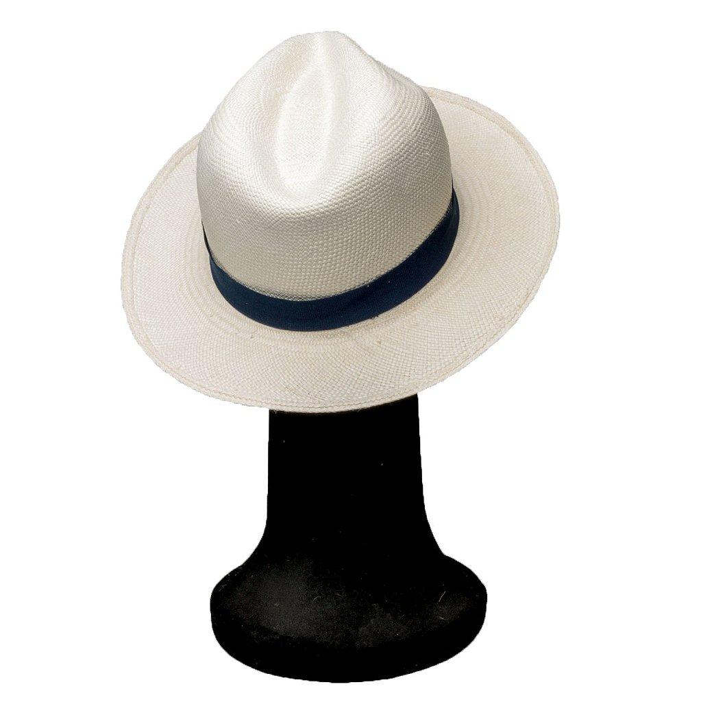 Chapéu Panamá Palha Natural Faixa Azul Marinho - Compre com quem é ... 3afa427006a
