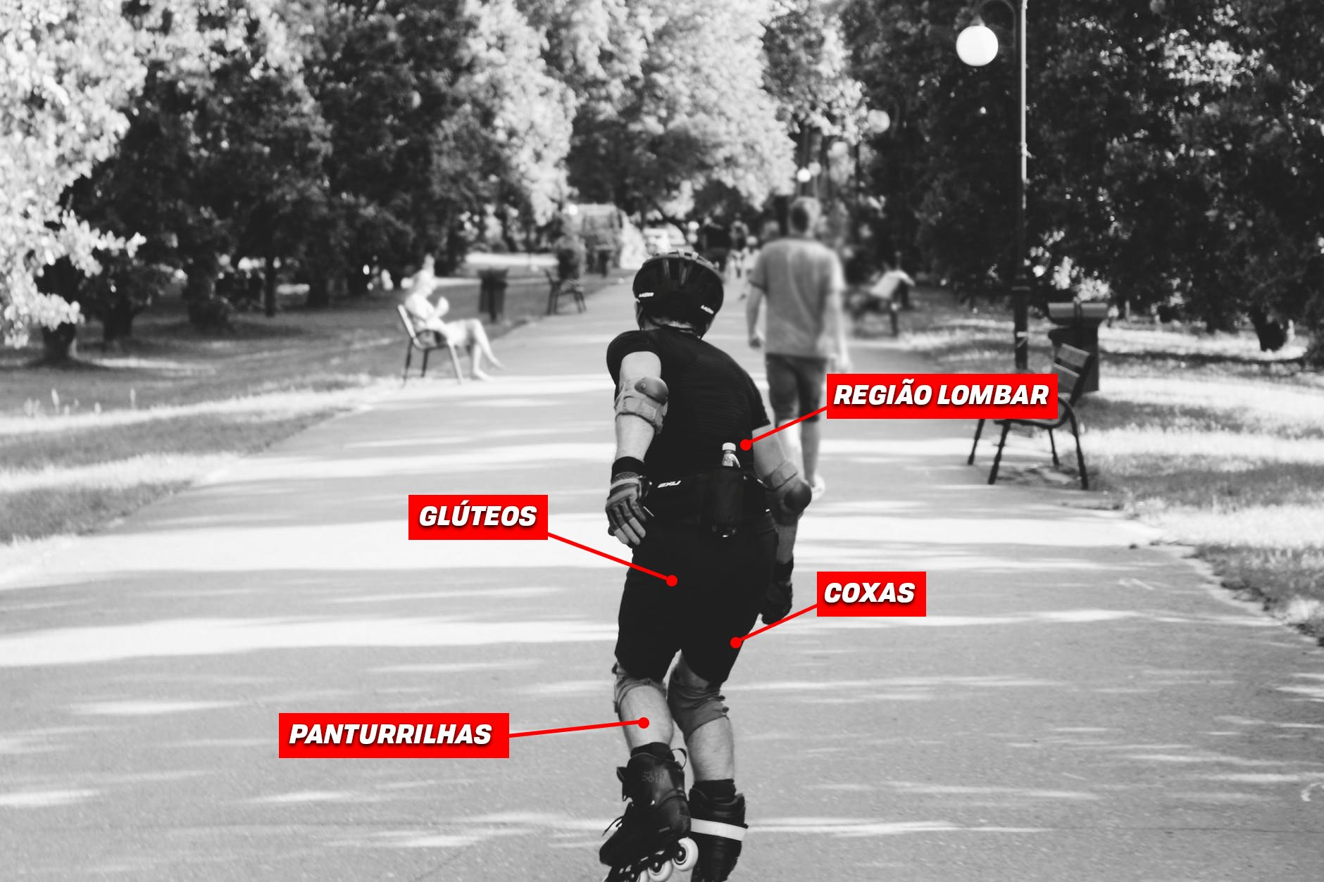 Quando se anda de patins há melhoras na postura e no condicionamento físico. eb851b6052d