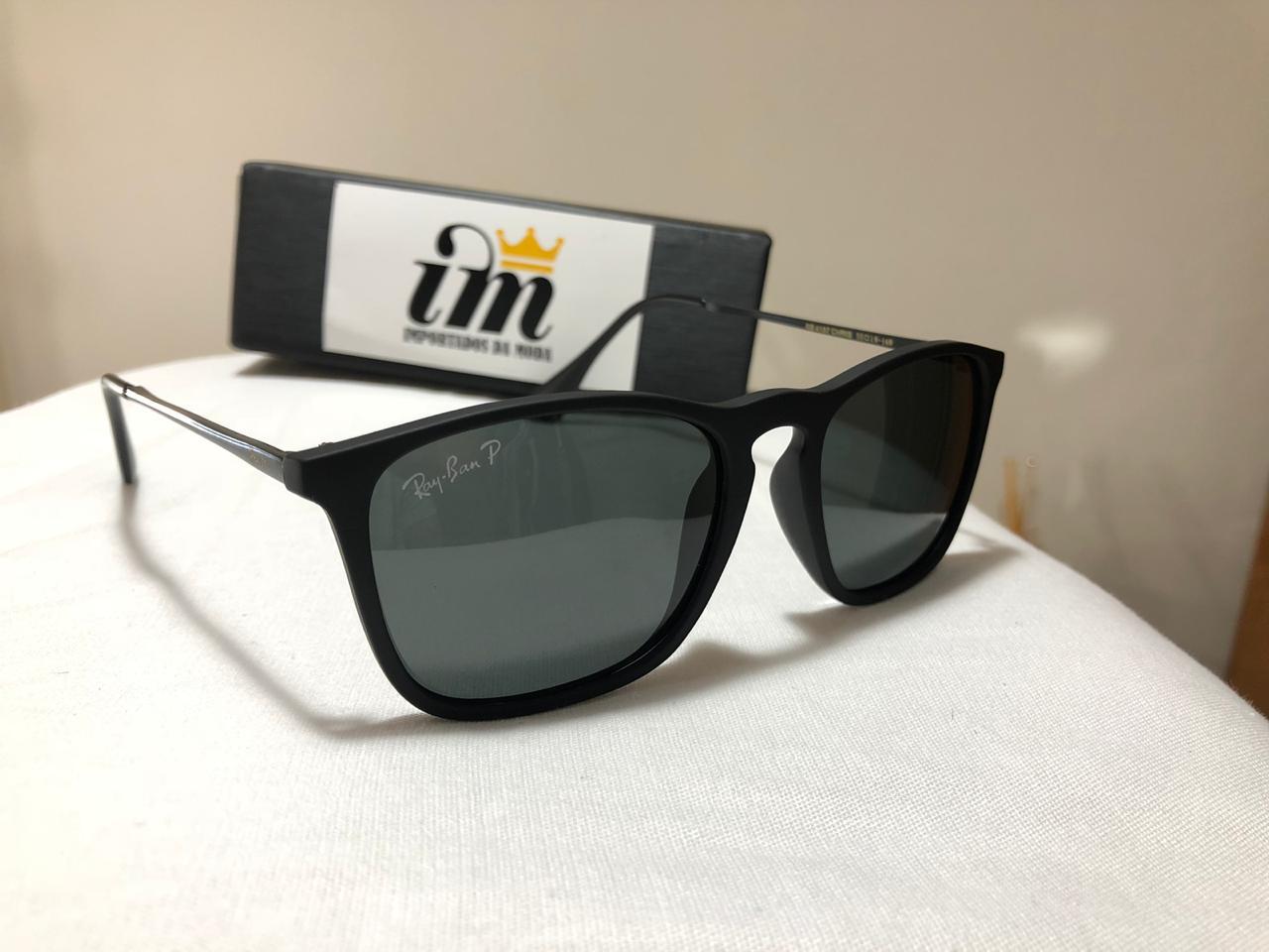 e8c658dc745de Fotos reais e detalhadas do produto Ray-Ban Chris RB4187 - Preto - Óculos  de Sol