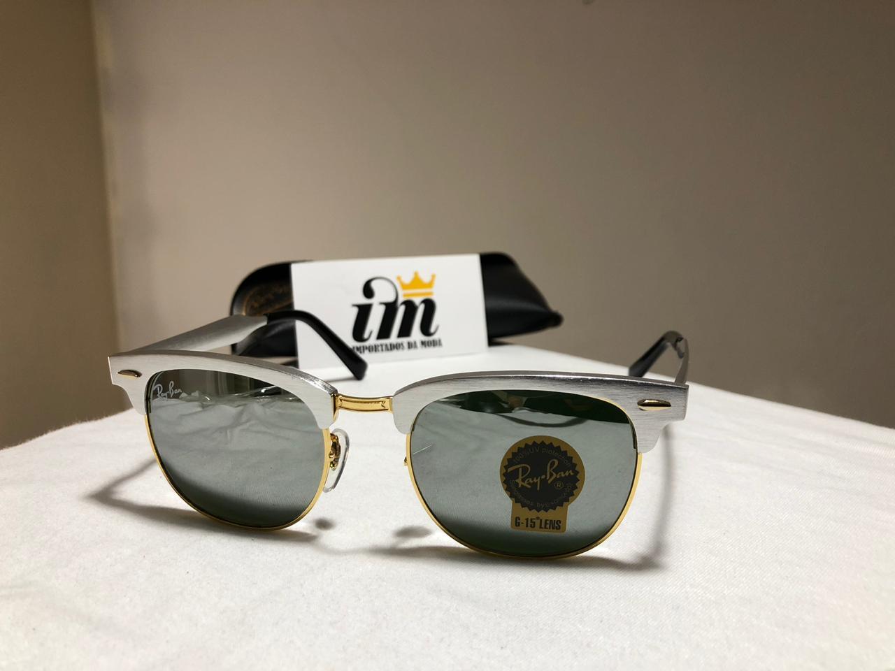 10706ec6dfb31 O Que acompanha o produto Ray-Ban Clubmaster RB3507 - Aluminio Prata -  Óculos de Sol