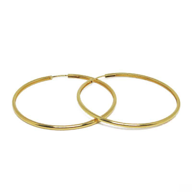 0532f20cfa477 Brinco de Argola média lisa folheada a ouro 18k - Diferencial Jóias ...