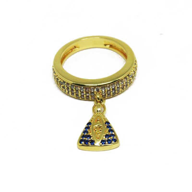3c56294e293ee Anel com pingente de Nossa Senhora Aparecida Folheado em Ouro 18k ...