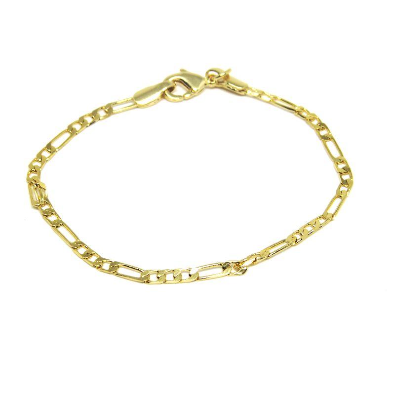 Pulseira infantil masculina folheada em ouro 18k - Diferencial Jóias ... 8b8cef0645