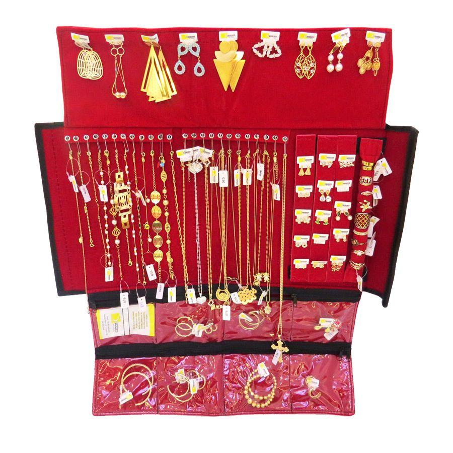 5da75dc0b Kit Revenda Semi-Jóias 69 peças folheadas em ouro 18k