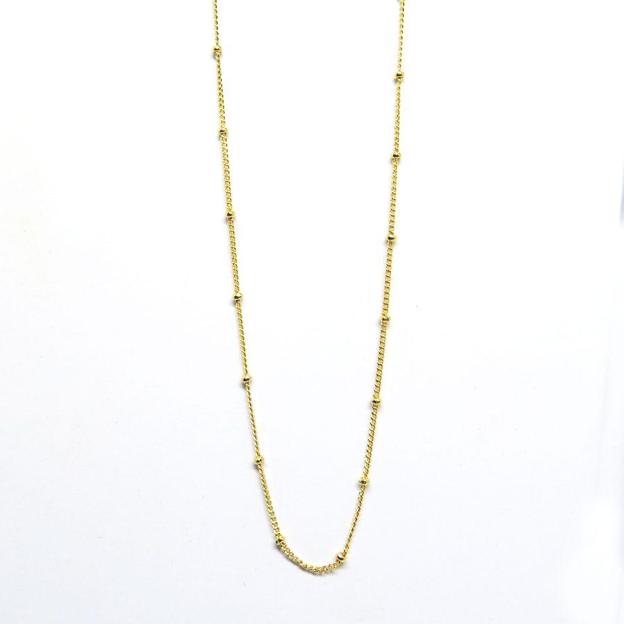 6a8f69e48162a Gargantilha de bolinha folheada em ouro 18k - Diferencial Jóias ...