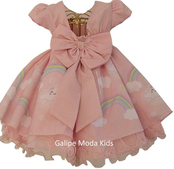 Vestido Infantil Chuva De Amor Galipe Moda Kids Vestido