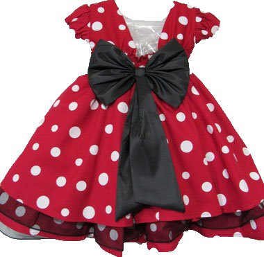 8b3e8e5ca16 Vestido Infantil Minnie Vermelha com Bolinhas Branca. Clique e conheça  também nossos demais modelos.