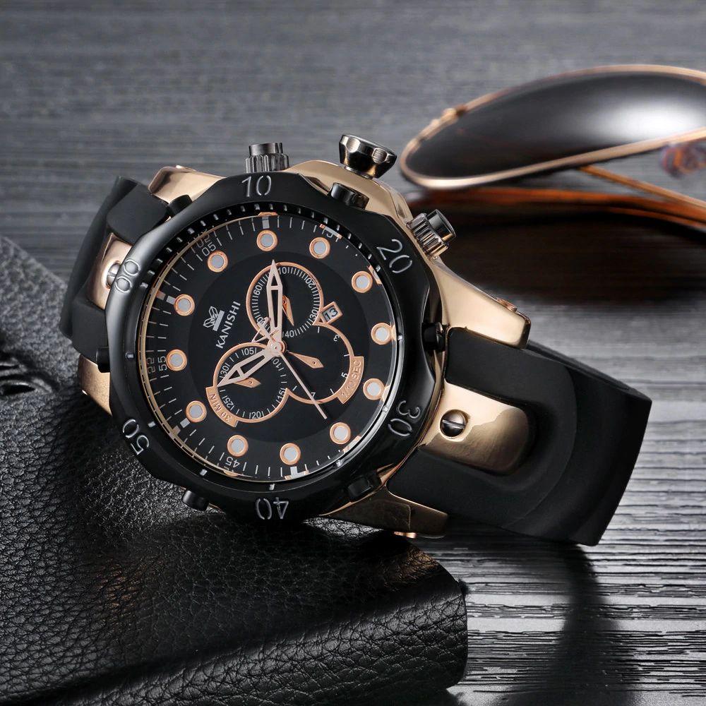 6f1db24603d ... Relógio Dourado Kanishi Sport 007 - Imagem 2 ...