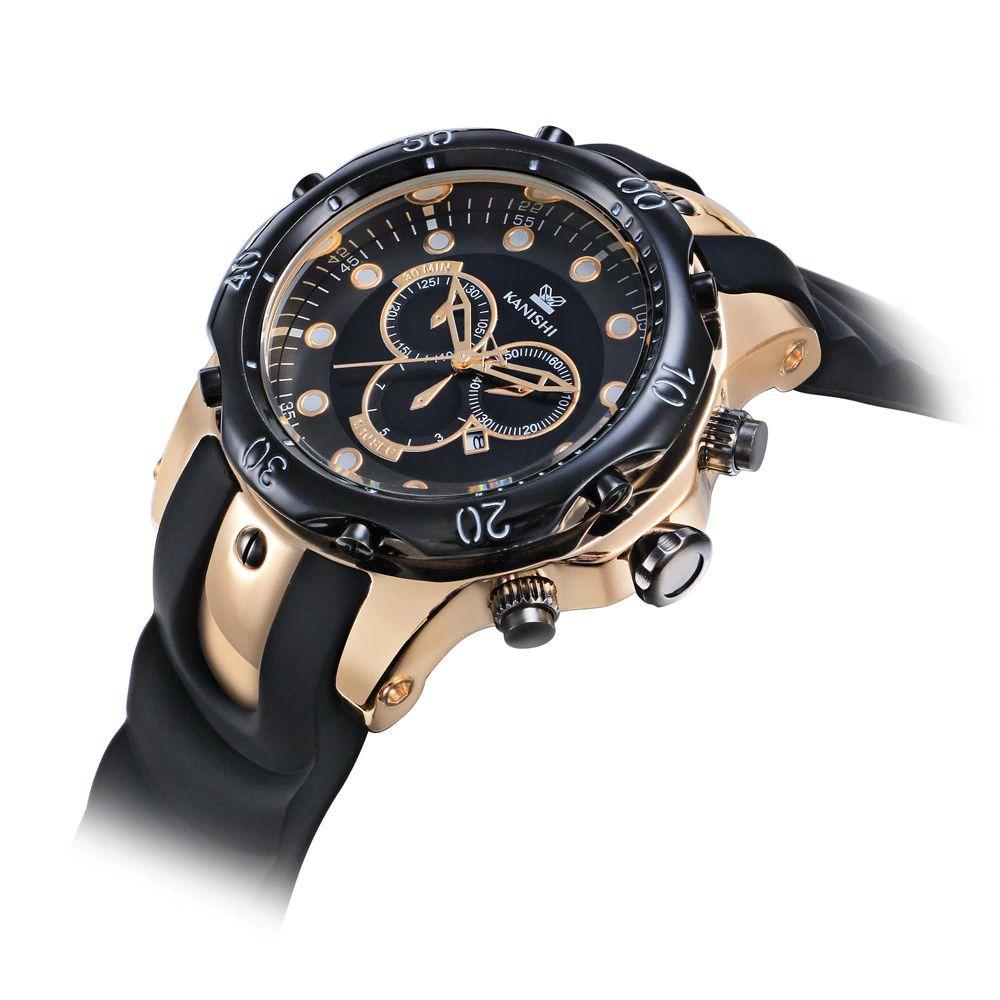 30fc590d913 ... Relógio Dourado Kanishi Sport 007 - Imagem 3