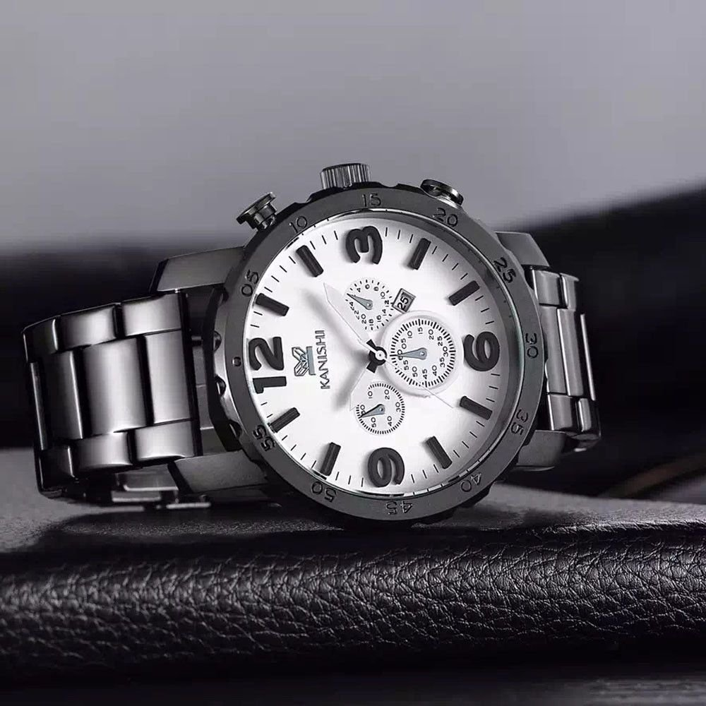 c52c05d9562 ... Relógio com Pulseira Preta Kanishi - Imagem 2