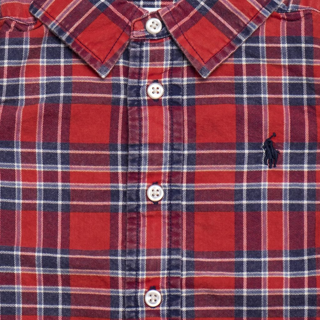 475f50673e RALPH LAUREN - Camisa Xadrez Vermelha - Mini Pineapple Co.