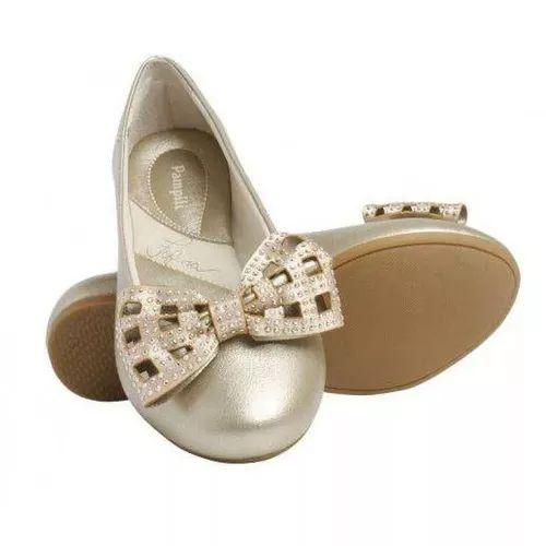 db82f51ab Sapatilha Pampili Super Fofura Dourada - A sua loja de calçados e ...