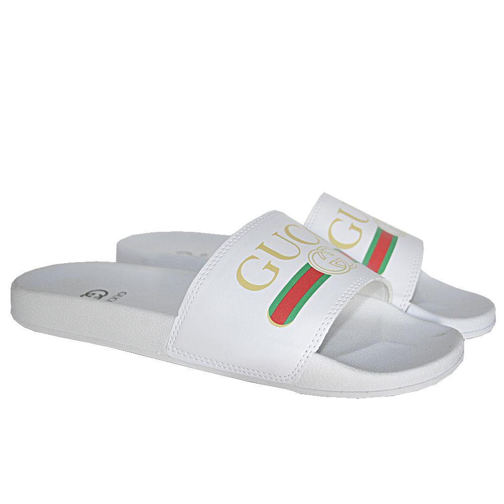 e3ab1a83e42 ... Chinelo Slide Gucci Branco - Imagem 2 ...