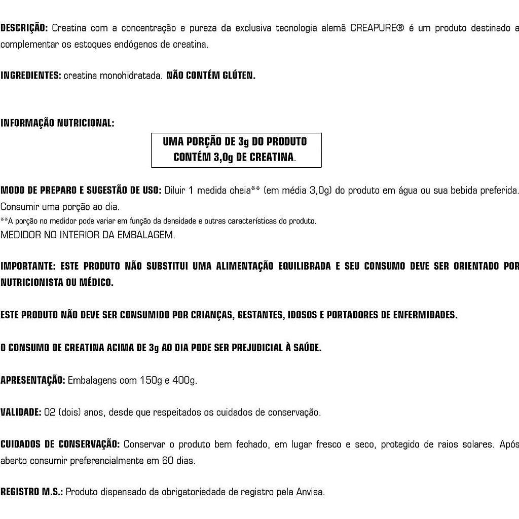 Tabela Creaatina