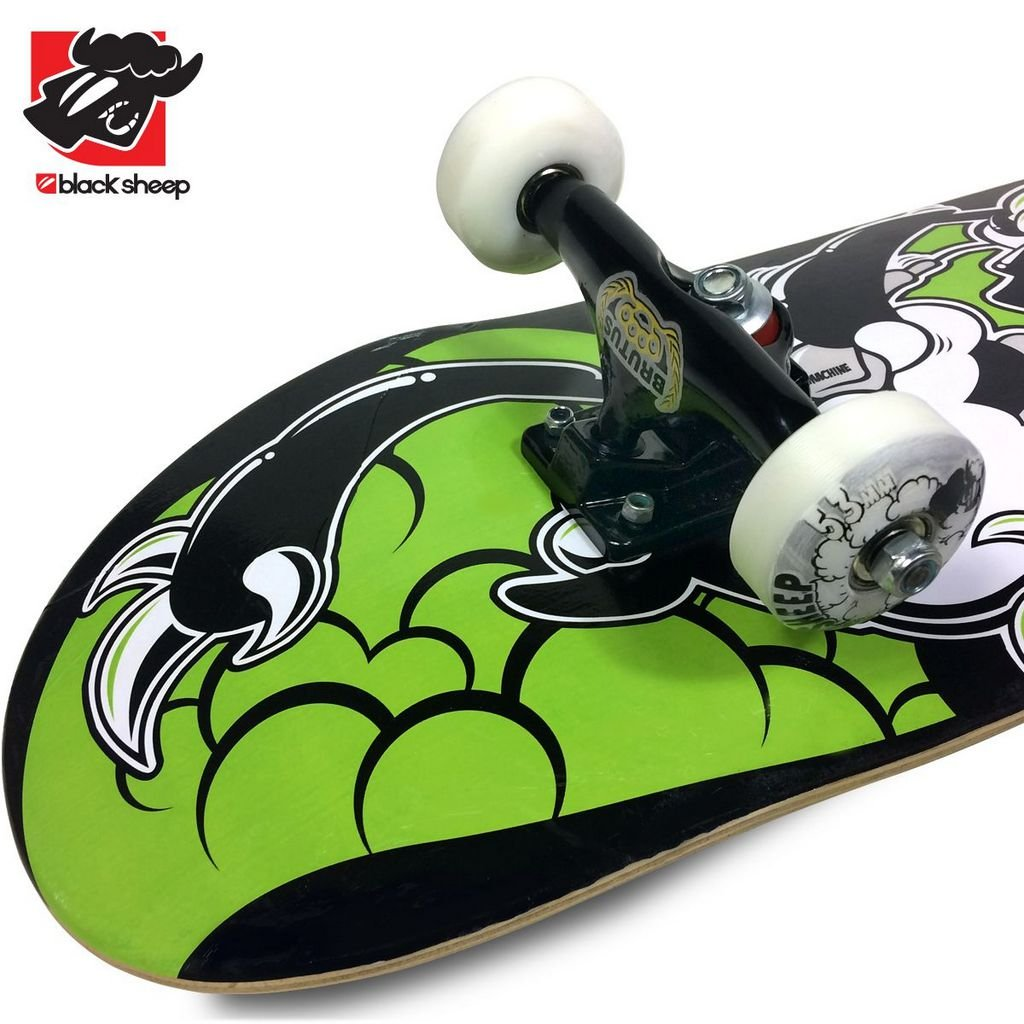 e2ae6f95b6a2f Skate Montado Black Sheep Black Green Iniciante - Virtual Skate Shop ...