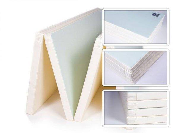 colchonete de atividades parklon 4 placas azul branco 200cm 140cm 4cm