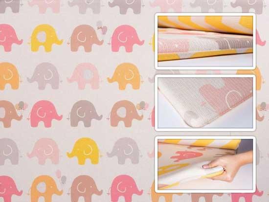 tapete infantil parklon bubble elefante 190cm x 130cm x 4cm