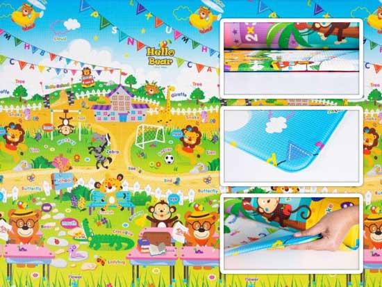tapete infantil parklon pvc school 190cm x 130cm