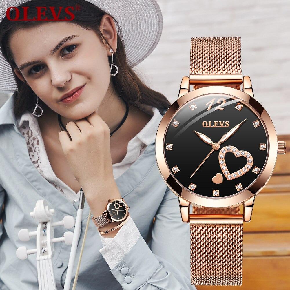 Conjunto Relógio Feminino OLEVS 5189 Edição Limitada