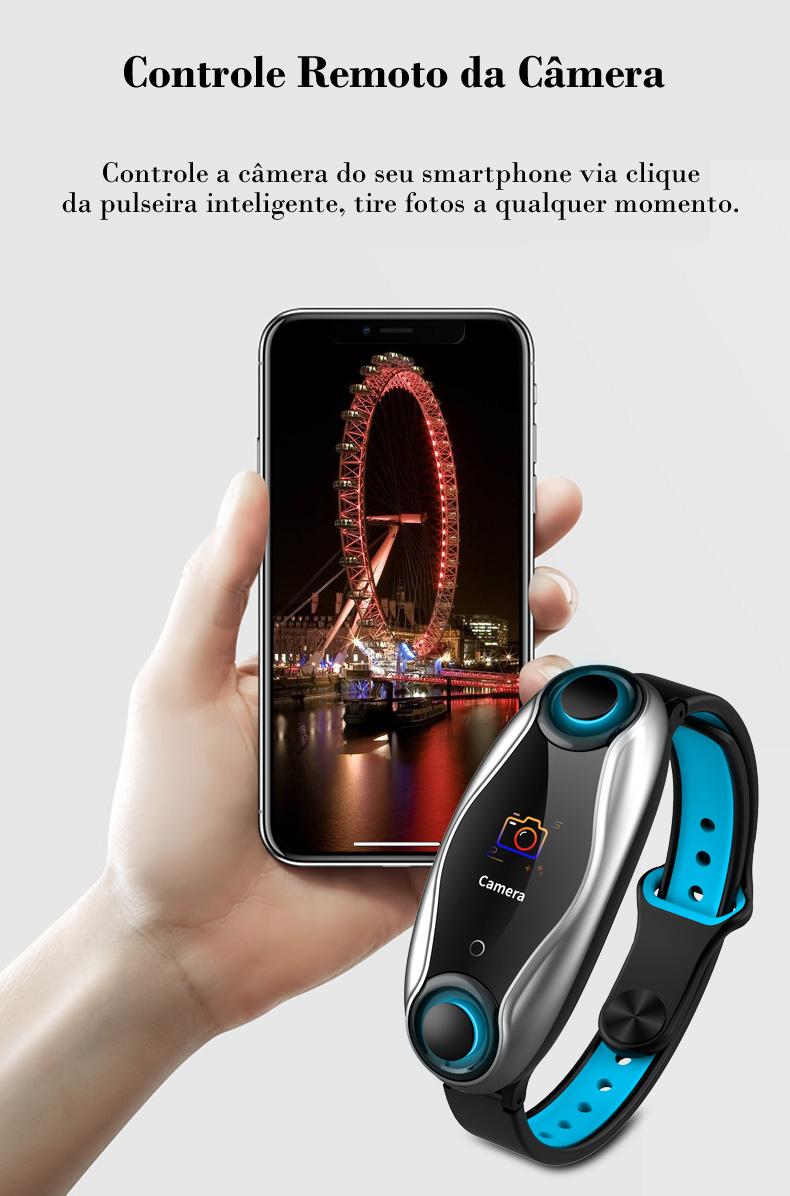 Pulseira Relógio Inteligente + Fone de Ouvido Bluetooth 5.0 2