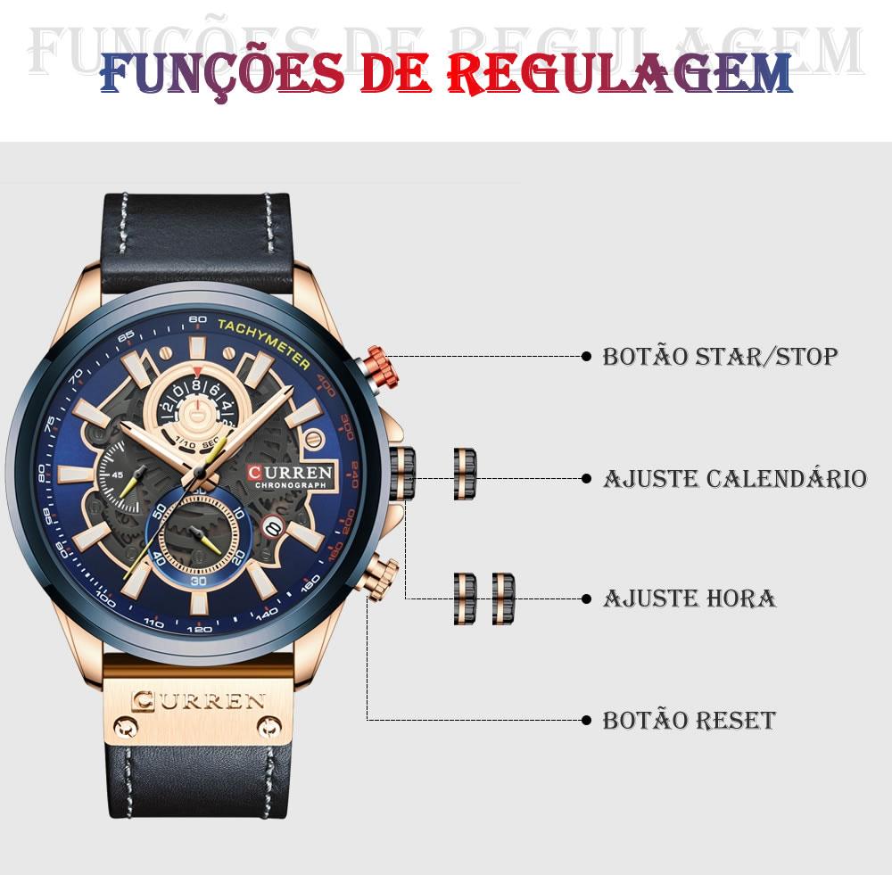 Relógio Design Criativo Esporte Curren 8380 2