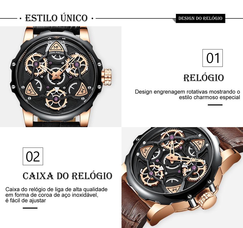 Relógio Design Único MINI FOCUS MF0249G11