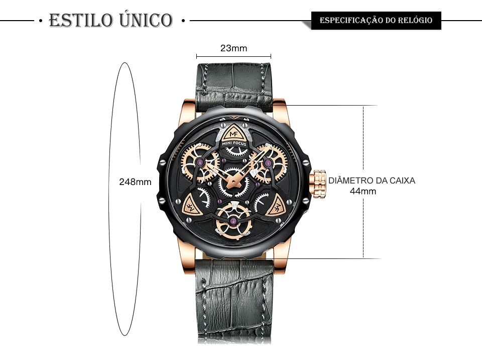 Relógio Design Único MINI FOCUS MF0249G8