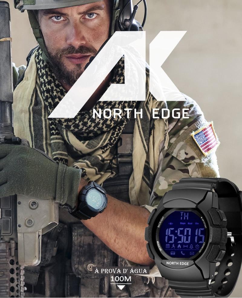 Relógio Digital North Edge AK Para Android & ios