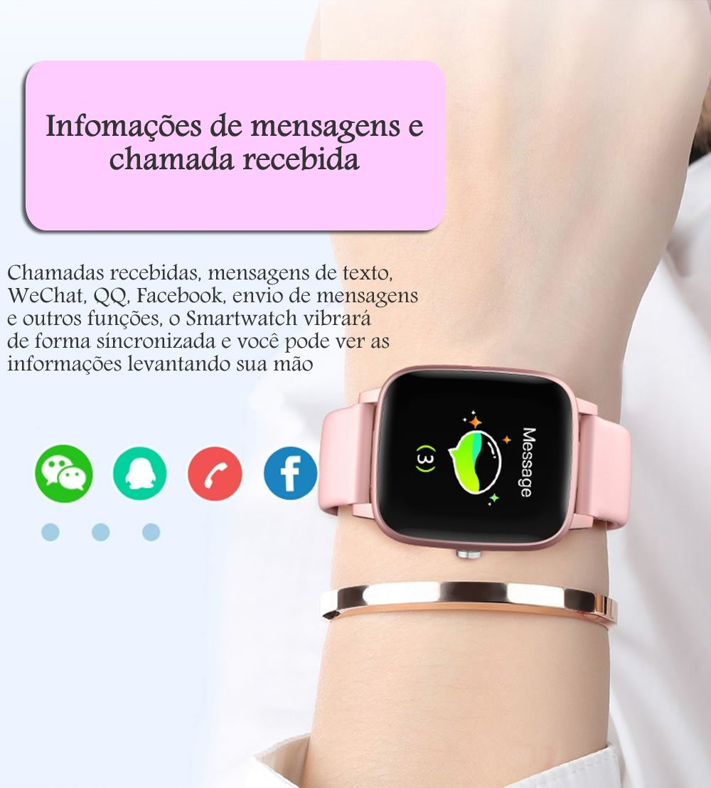 Relógio Inteligente Com Termômetro Corporal Rede Social