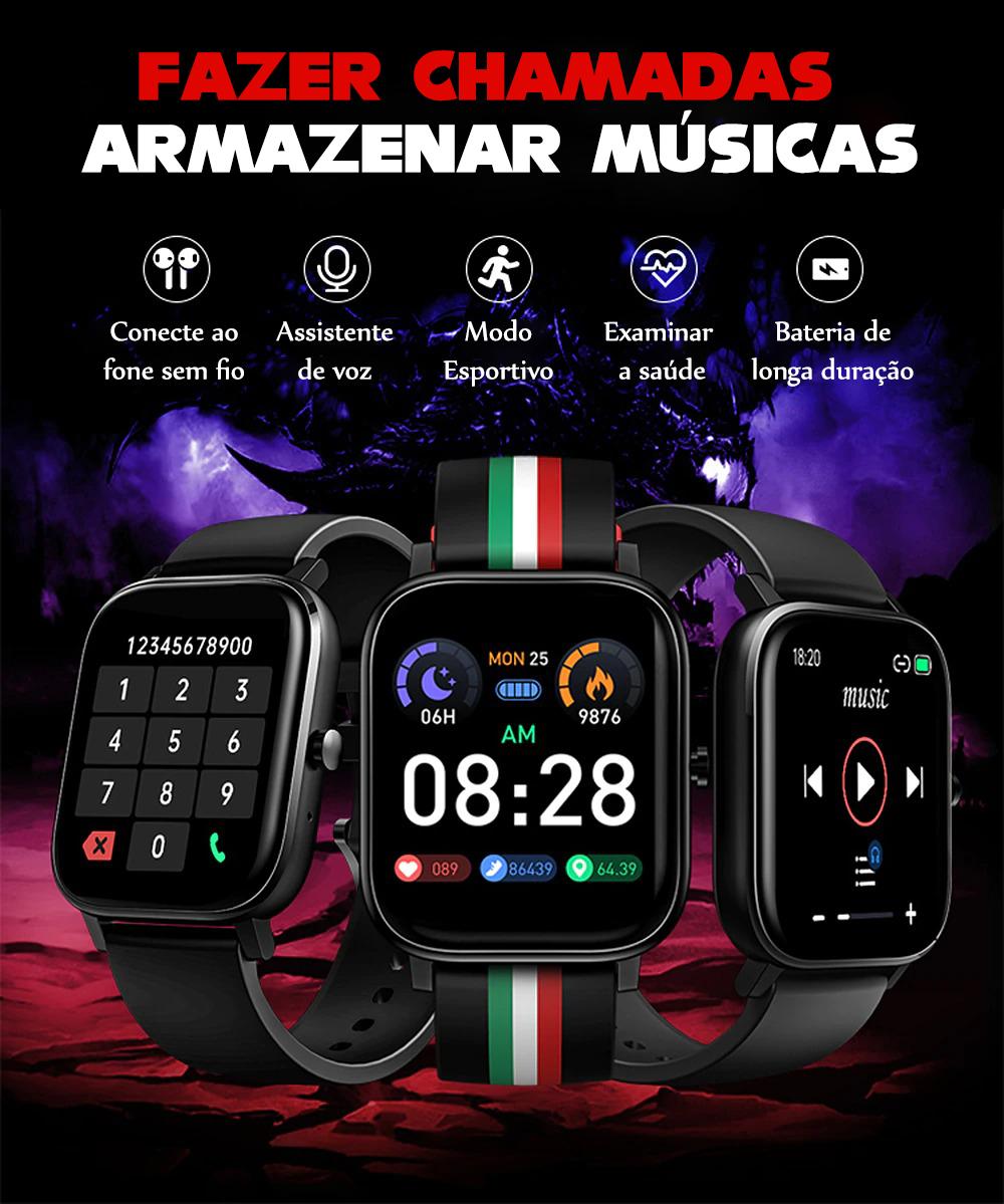 Relógio Inteligente P12 Com Bluetooth 4GB de Rom Unissex