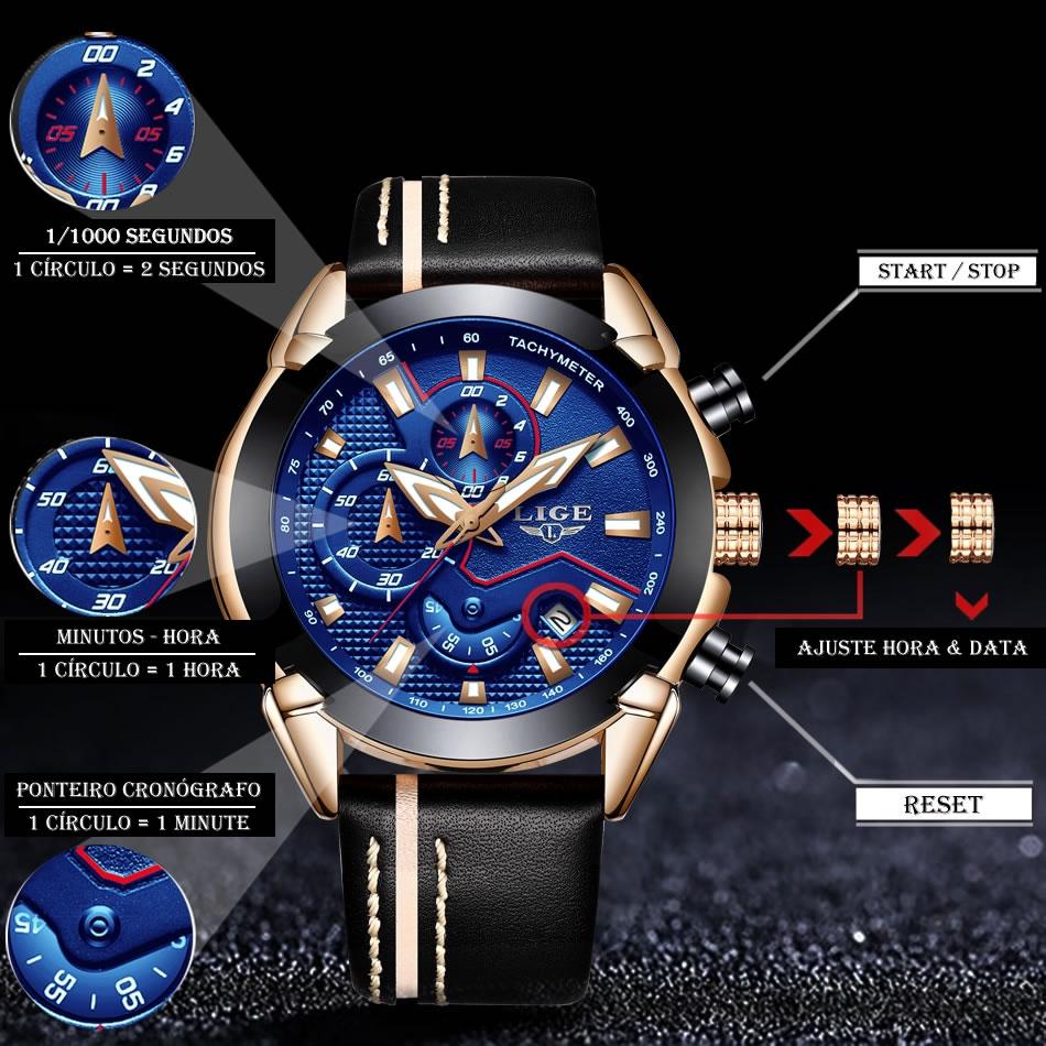 Relógio LIGE 9869