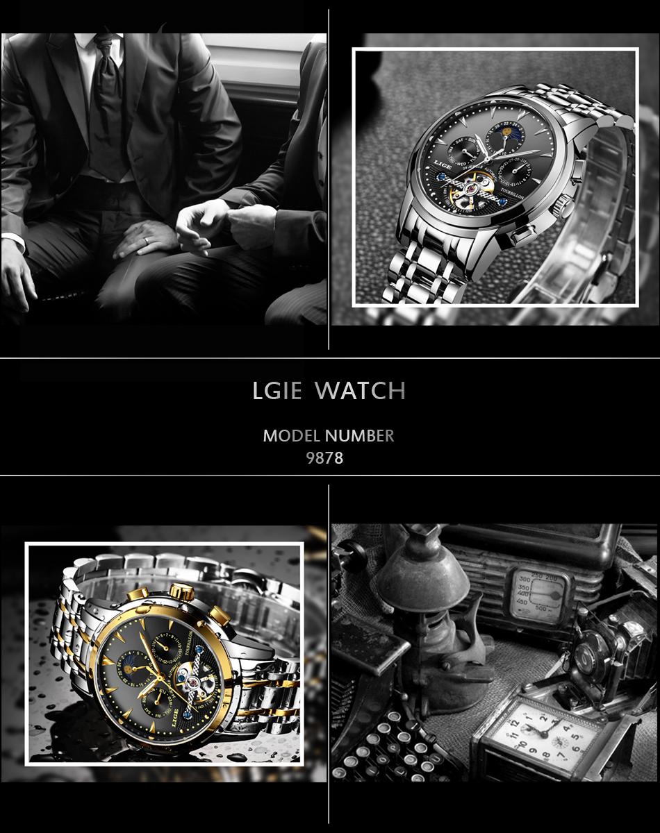 Relógio Lige 9878 Automático