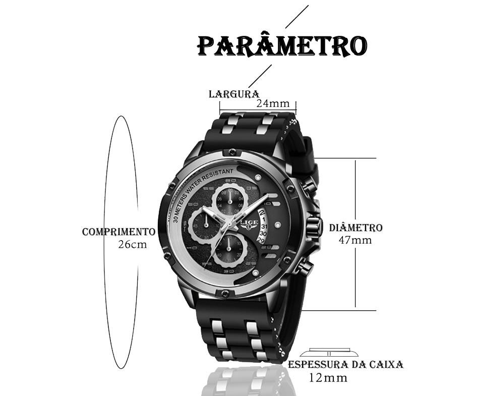 Relógio LIGE 9906 Empire Vip 7