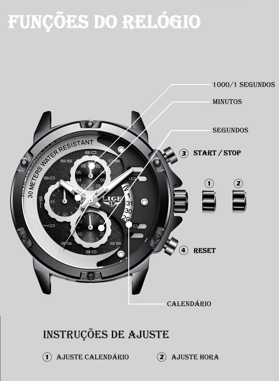 Relógio LIGE 9906 Empire Vip
