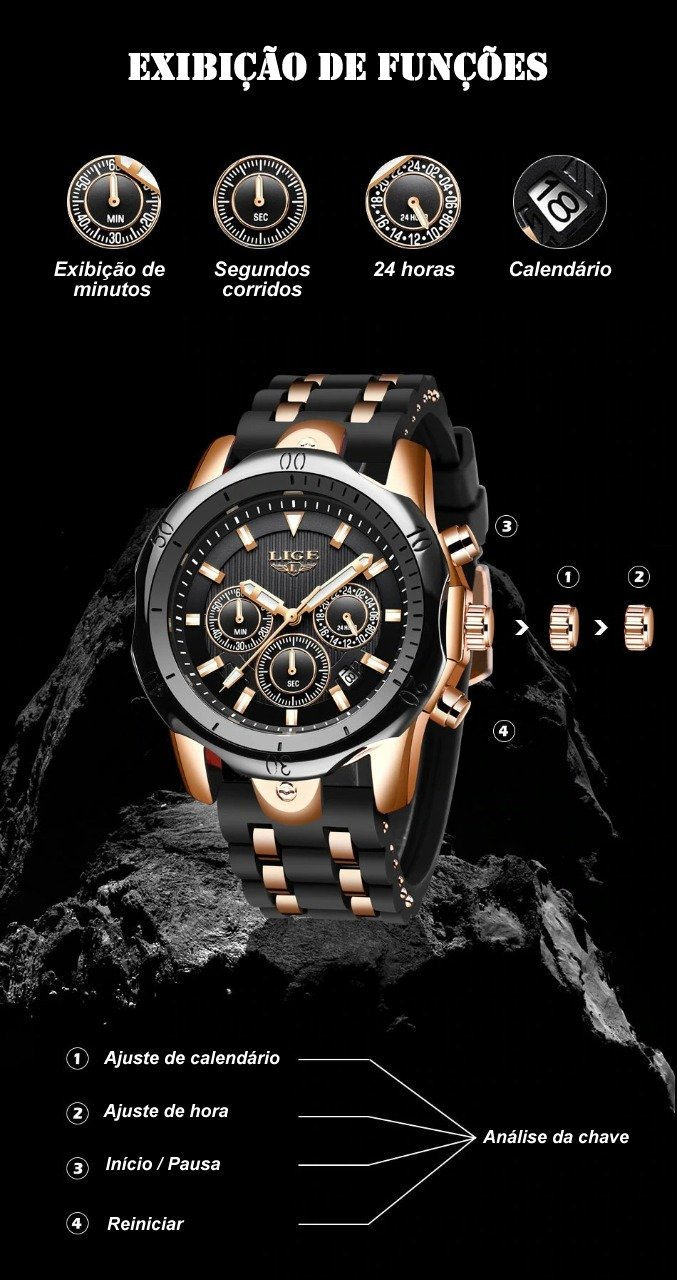 Relógio LIGE EMPIRE BLACK 2021