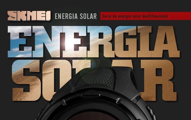Relógio Masculino Digital Solar 50m 1405 Original