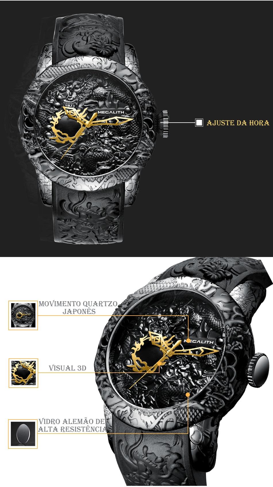 Relógio Masculino Dragão Megalith 8041M 2