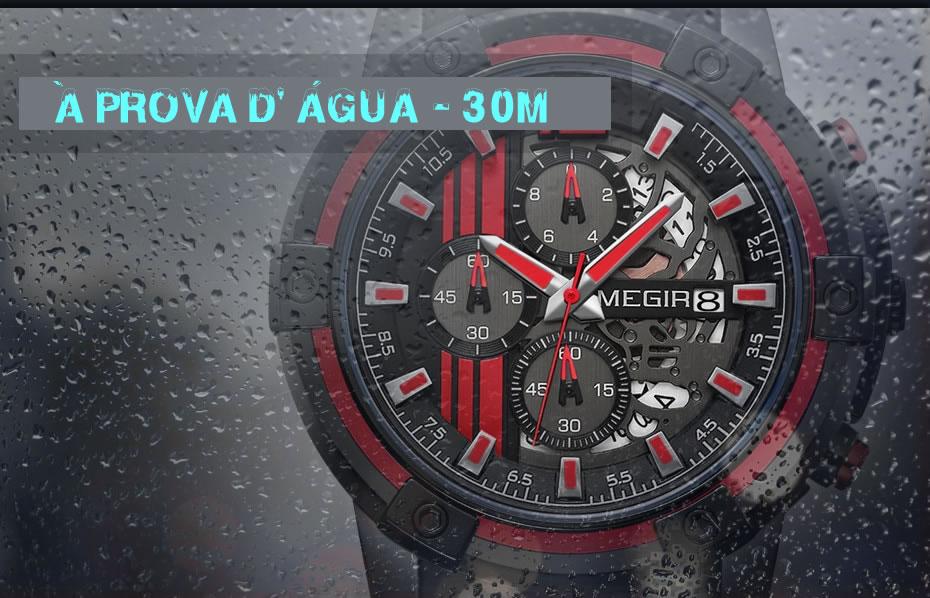 Relógio Masculino Esportivo MEGIR 2097 À Prova D' Água