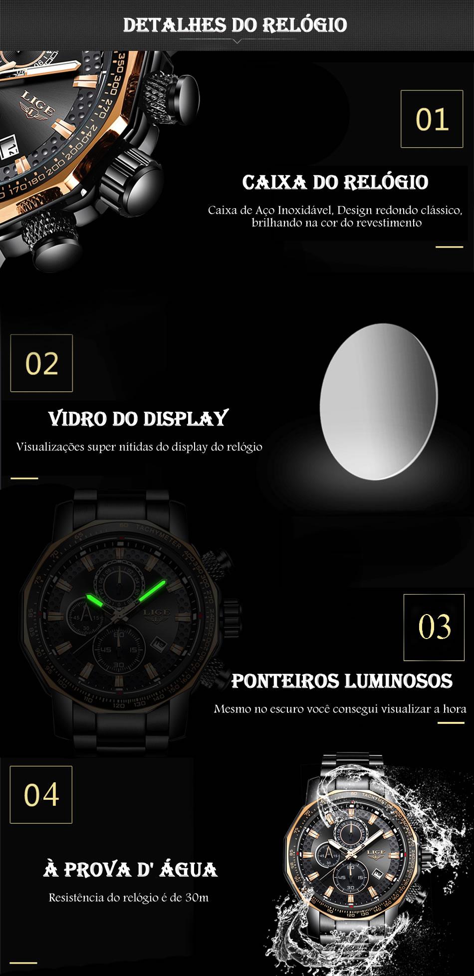 Relógio Masculino Lige 9902