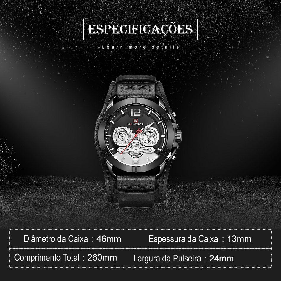 Relógio Militar Esporte Naviforce NF9162BRB 2