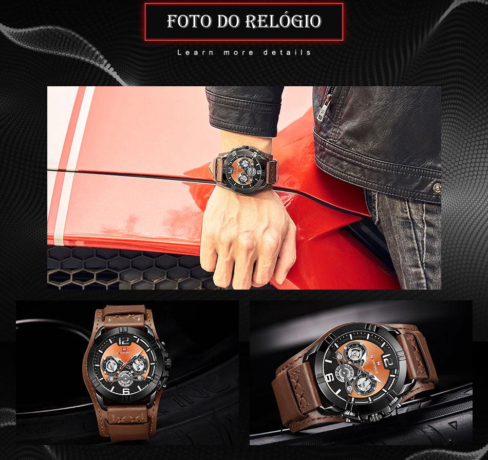 Relógio Militar Esporte Naviforce NF9162BRB 6