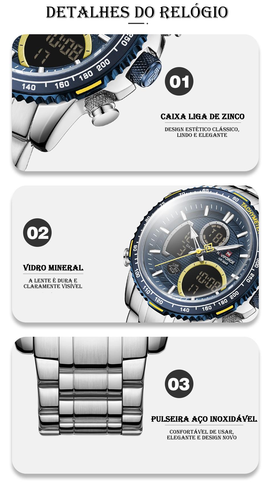 Relógio Naviforce NF9182 Clássico 3