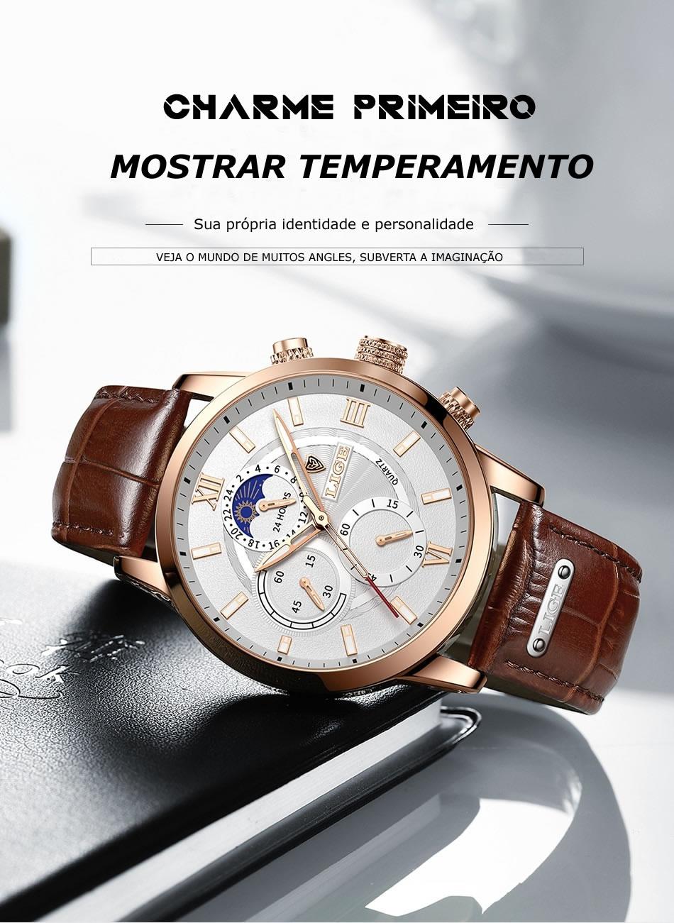 Relógio Quartzo Masculino Romano Original