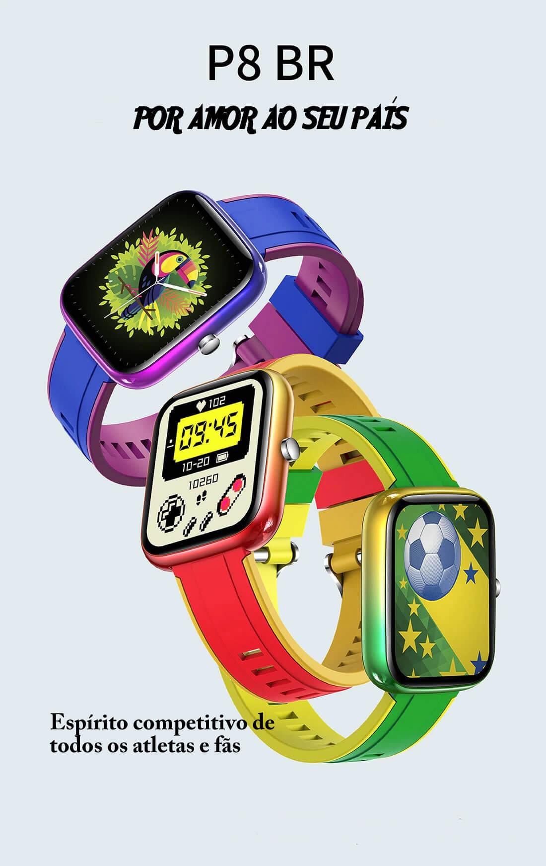 Relógio Smart Watch Para Android & iOS ColMi P8 BR Original