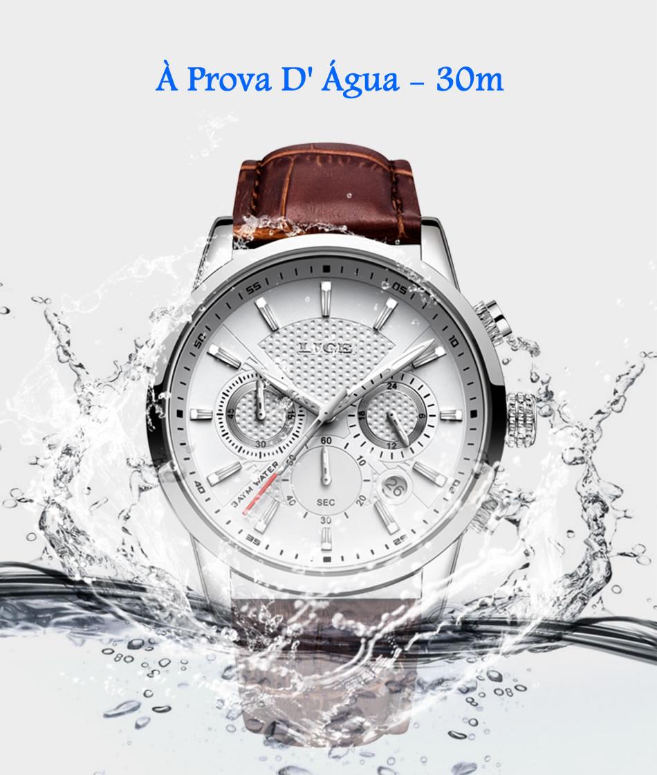 Relógio Social Esporte LIGE 9866 À Prova D' Água